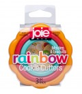 Rainbow Cookie Cutters 3pc