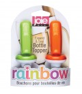 rainbow expand & seal bottle toppers