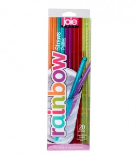 Rainbow - Reusable Pet-G Straws - 20 pc