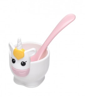 Unicorn - Egg Cup & Spoon