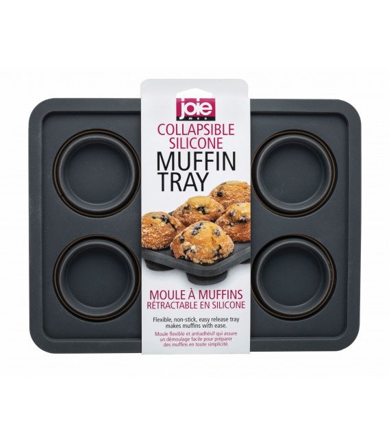 Collapsible Silicone Muffin Tray