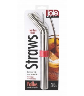 Stainless Steel Straws - 8pc